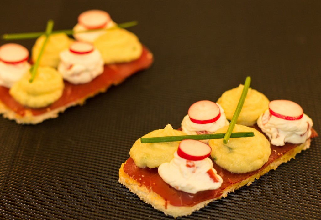 Toast Artichaud aillé et saint môret