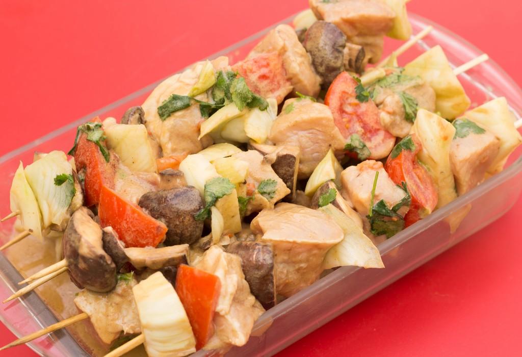 Brochettes porc fenouil