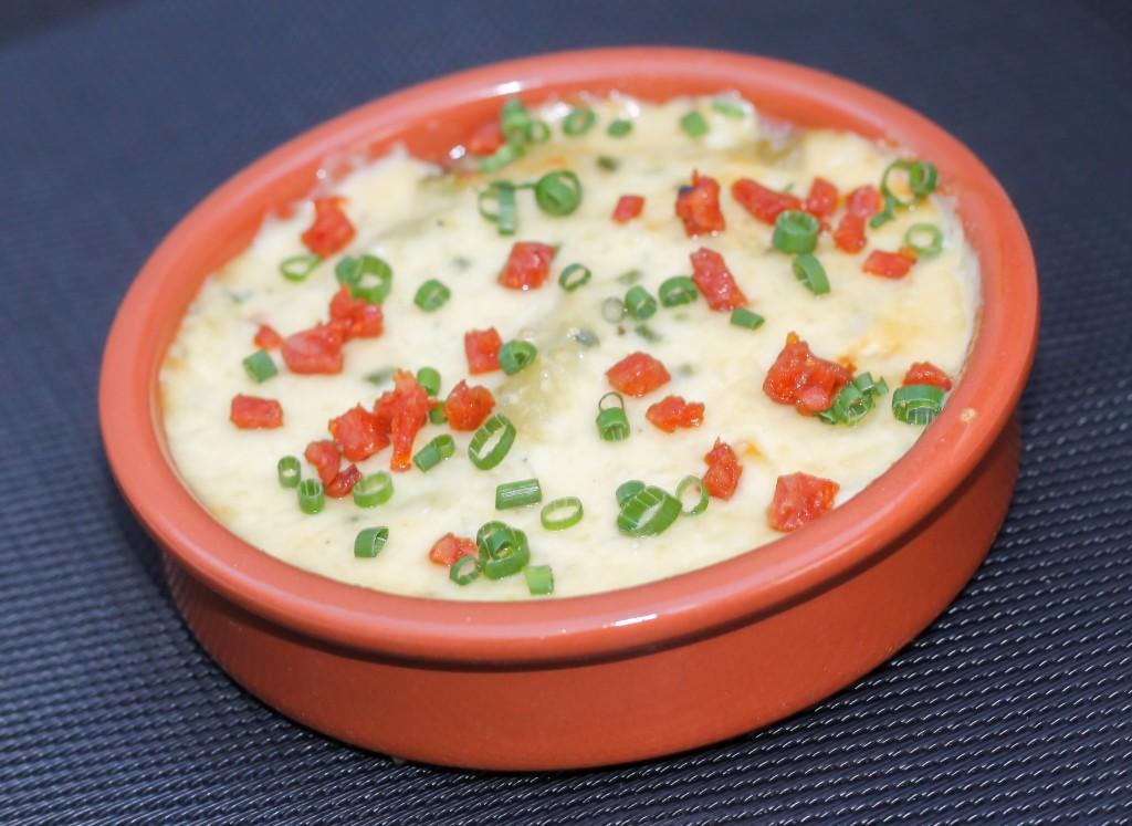 Ravioles à la creme de parmesan et chorizo