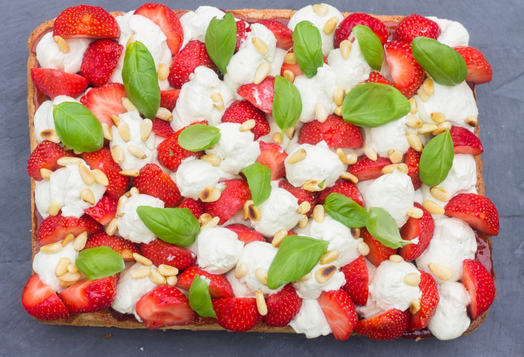 Tarte fraises basilic