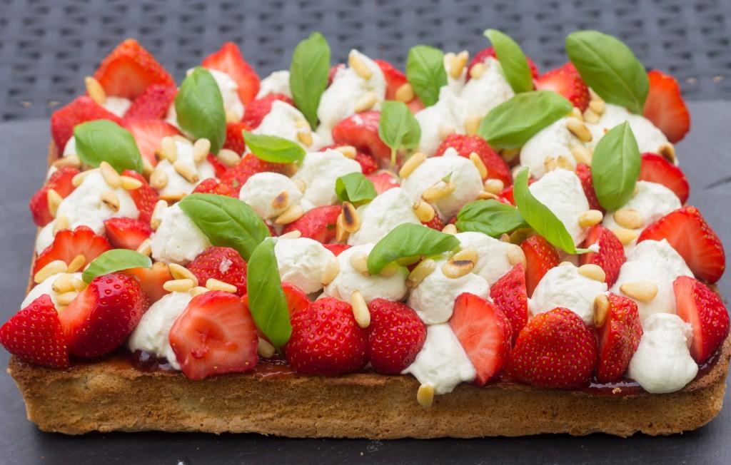 Tarte fraises basilic 2